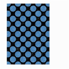Circles2 Black Marble & Blue Colored Pencil Large Garden Flag (two Sides)