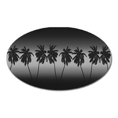 Tropical Sunset Oval Magnet