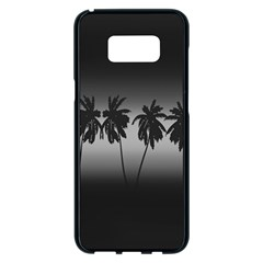 Tropical Sunset Samsung Galaxy S8 Plus Black Seamless Case