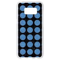 Circles1 Black Marble & Blue Colored Pencil Samsung Galaxy S8 White Seamless Case