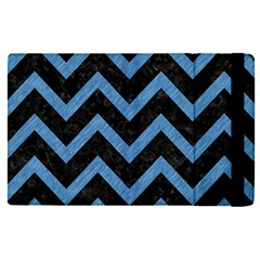 Chevron9 Black Marble & Blue Colored Pencil Apple Ipad Pro 12 9   Flip Case