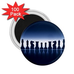 Chess Pieces 2 25  Magnets (100 Pack)