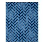 BRICK2 BLACK MARBLE & BLUE COLORED PENCIL (R) Shower Curtain 60  x 72  (Medium) 54.25 x65.71 Curtain