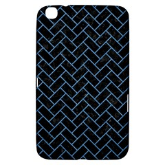 Brick2 Black Marble & Blue Colored Pencil Samsung Galaxy Tab 3 (8 ) T3100 Hardshell Case