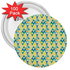 Colorful Triangle Pattern 3  Buttons (100 Pack)