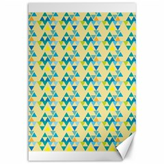 Colorful Triangle Pattern Canvas 12  X 18