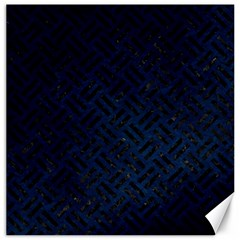Woven2 Black Marble & Blue Grunge (r) Canvas 20  X 20