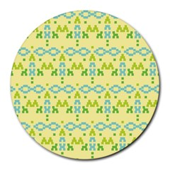 Simple Tribal Pattern Round Mousepads