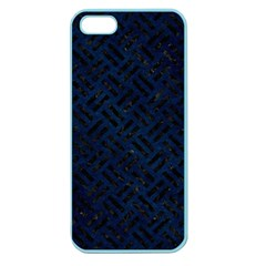 Woven2 Black Marble & Blue Grunge (r) Apple Seamless Iphone 5 Case (color)