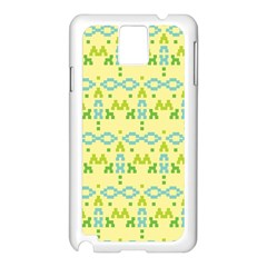 Simple Tribal Pattern Samsung Galaxy Note 3 N9005 Case (white)