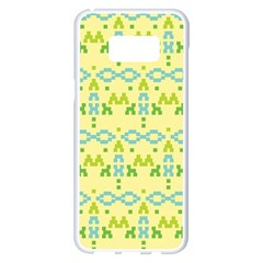 Simple Tribal Pattern Samsung Galaxy S8 Plus White Seamless Case