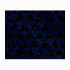 Triangle3 Black Marble & Blue Grunge Small Glasses Cloth