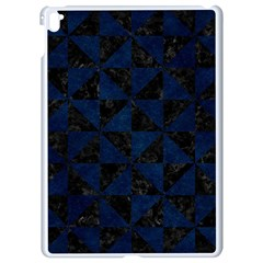 Triangle1 Black Marble & Blue Grunge Apple Ipad Pro 9 7   White Seamless Case