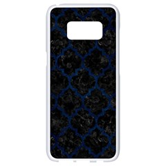 Tile1 Black Marble & Blue Grunge Samsung Galaxy S8 White Seamless Case