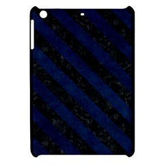 Stripes3 Black Marble & Blue Grunge (r) Apple Ipad Mini Hardshell Case