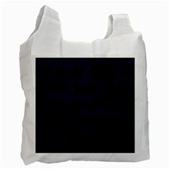 Square2 Black Marble & Blue Grunge Recycle Bag (two Side)