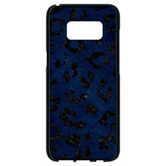 Skin5 Black Marble & Blue Grunge Samsung Galaxy S8 Black Seamless Case