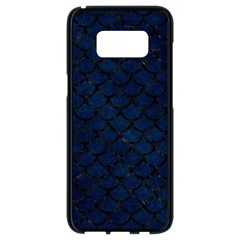 Scales1 Black Marble & Blue Grunge (r) Samsung Galaxy S8 Black Seamless Case