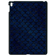 Scales1 Black Marble & Blue Grunge (r) Apple Ipad Pro 9 7   Black Seamless Case