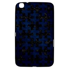Puzzle1 Black Marble & Blue Grunge Samsung Galaxy Tab 3 (8 ) T3100 Hardshell Case