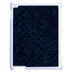 Circles3 Black Marble & Blue Grunge Apple Ipad 2 Case (white)
