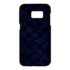Circles2 Black Marble & Blue Grunge Samsung Galaxy S7 Hardshell Case
