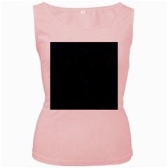 Circles1 Black Marble & Blue Grunge (r) Women s Pink Tank Top