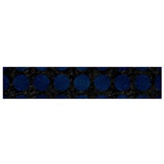 Circles1 Black Marble & Blue Grunge Flano Scarf (small)