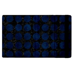 Circles1 Black Marble & Blue Grunge Apple Ipad Pro 9 7   Flip Case