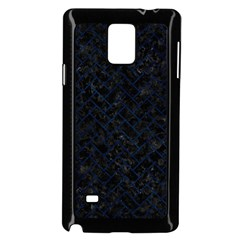 Brick2 Black Marble & Blue Grunge Samsung Galaxy Note 4 Case (black)