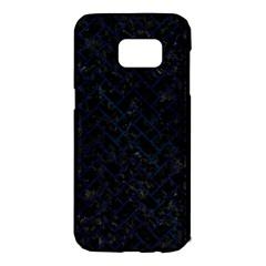 Brick2 Black Marble & Blue Grunge Samsung Galaxy S7 Edge Hardshell Case