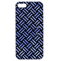 Woven2 Black Marble & Blue Watercolor Apple Iphone 5 Hardshell Case With Stand