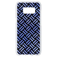 Woven2 Black Marble & Blue Watercolor Samsung Galaxy S8 White Seamless Case