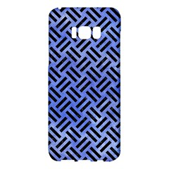Woven2 Black Marble & Blue Watercolor (r) Samsung Galaxy S8 Plus Hardshell Case