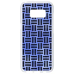 Woven1 Black Marble & Blue Watercolor (r) Samsung Galaxy S8 White Seamless Case