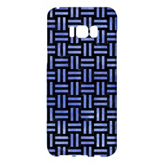 Woven1 Black Marble & Blue Watercolor Samsung Galaxy S8 Plus Hardshell Case