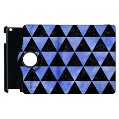 Triangle3 Black Marble & Blue Watercolor Apple Ipad 2 Flip 360 Case
