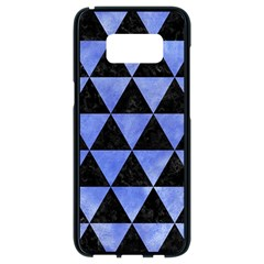 Triangle3 Black Marble & Blue Watercolor Samsung Galaxy S8 Black Seamless Case