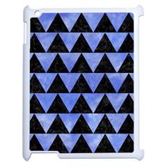 Triangle2 Black Marble & Blue Watercolor Apple Ipad 2 Case (white)