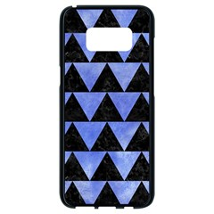 Triangle2 Black Marble & Blue Watercolor Samsung Galaxy S8 Black Seamless Case