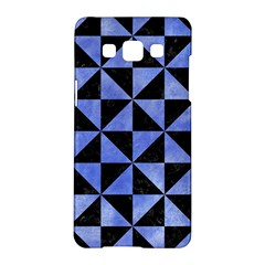 Triangle1 Black Marble & Blue Watercolor Samsung Galaxy A5 Hardshell Case