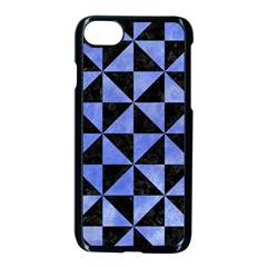 Triangle1 Black Marble & Blue Watercolor Apple Iphone 7 Seamless Case (black)