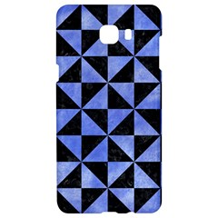 Triangle1 Black Marble & Blue Watercolor Samsung C9 Pro Hardshell Case