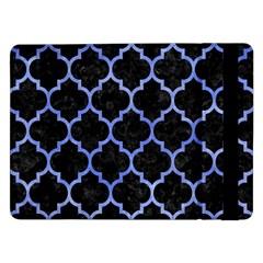 Tile1 Black Marble & Blue Watercolor Samsung Galaxy Tab Pro 12 2  Flip Case