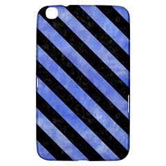 Stripes3 Black Marble & Blue Watercolor (r) Samsung Galaxy Tab 3 (8 ) T3100 Hardshell Case