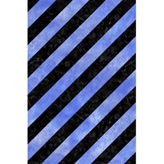 Stripes3 Black Marble & Blue Watercolor 5 5  X 8 5  Notebook