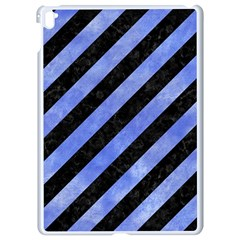 Stripes3 Black Marble & Blue Watercolor Apple Ipad Pro 9 7   White Seamless Case