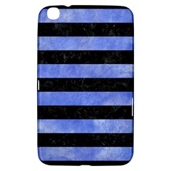 Stripes2 Black Marble & Blue Watercolor Samsung Galaxy Tab 3 (8 ) T3100 Hardshell Case