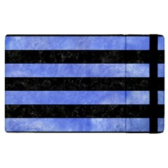 Stripes2 Black Marble & Blue Watercolor Apple Ipad Pro 9 7   Flip Case