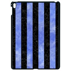 Stripes1 Black Marble & Blue Watercolor Apple Ipad Pro 9 7   Black Seamless Case